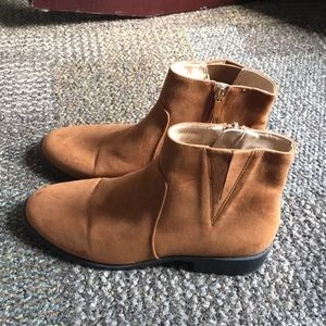 light brown booties, forever 21 shoes